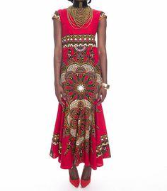 SALE Jade African Print Dress, Custom request welcome