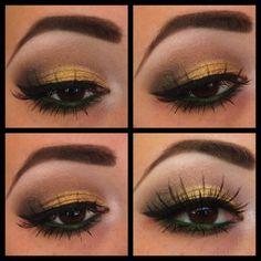 Gold & Green eyes. Deelish.