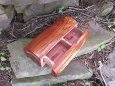 Unique Log Wood Jewelry Box from Red Cedar