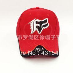 32b72c9de19 Fox Embroidery baseball caps sports car racing hat truck sun visor cotton  caps 4 colors C54  8.55