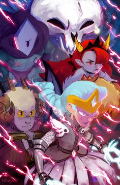 """injureddreams: """" The Magic High Commission I liked these guys when I first saw them, but in STARCRUSHED it made me fall in love with them. I love how they all charged into battle ready to sacrifice. Star E Marco, Power Of Evil, Starco Comic, Evil Art, Star Wars, Star Butterfly, Star Vs The Forces Of Evil, Force Of Evil, Magical Girl"""