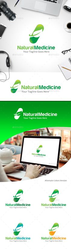 Natural Medicine - Logo Design Template Vector #logotype Download it here: http://graphicriver.net/item/natural-medicine-logo/11184800?s_rank=970?ref=nexion