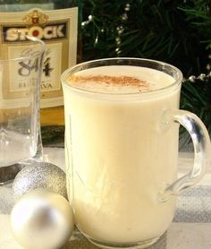 EGG NOG with rum and brandy