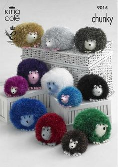 9015 | Knitting Patterns | Hedgehogs