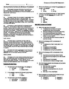 This worksheet has 7 multiple choice test format questions about a 5th grade reading skill assessment compare and contrast fandeluxe Choice Image
