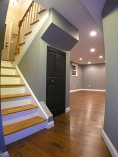 Basment: Love the hardwood floors and the staircase very nice.