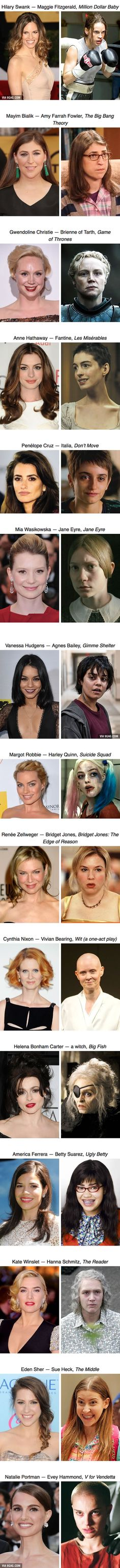 15 actresses who sacrificed their beauty for movie roles - 9GAG