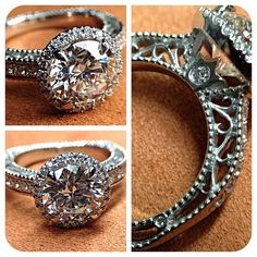 Forged in fire. Crafted by passion. Venetian-5002R for 2 carat diamond. Engagement rings from @Verragio Incredible!