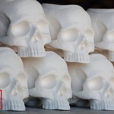 Skull Planter, Cold Mountain, Human Skull, Ceramic Planters, Modern Decor, Skulls, Home Goods, Sweet Home, Pottery