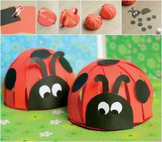 Paper Ladybug Craft - Easy Peasy and Fun