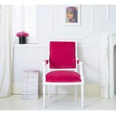 Fuchsia Pink Chair #Frenchbedroomcompany #Fuchsia #Pink