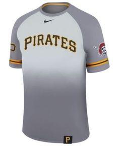 Nike Men's Pittsburgh Pirates Dri-Fit Sublimated Raglan T-Shirt - Gray XXL