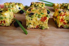 Omleta la cuptor | Foodieopedia Omelet, Frittata, Baked Potato, Potatoes, Baking, Breakfast, Ethnic Recipes, Omelette, Morning Coffee