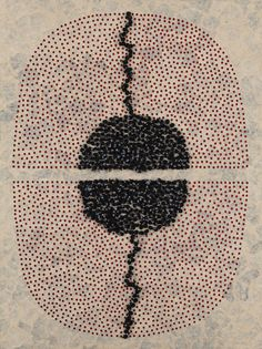 mondonoir: Manisha Parekh | A Crawl | Handmade paper and cord on board, 2008