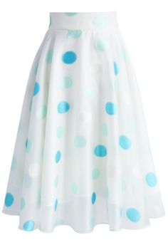 Refreshing Dots Organza A-line Skirt - New Arrivals - Retro, Indie and Unique Fashion Unique Fashion, Modest Fashion, Fashion Dresses, Fashion Fashion, Dress Skirt, Midi Skirt, Dress Up, Pleated Skirt, Skater Skirt