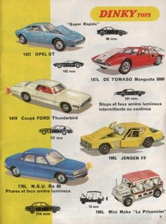 catalogue dinky toys 1970