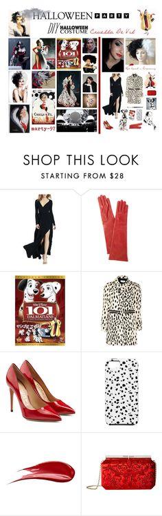 Halloween Party: Cruella De Vil by marty-97 on Polyvore featuring moda, WithChic, Sonia by Sonia Rykiel, Salvatore Ferragamo, Oscar de la Renta, Portolano, Hourglass Cosmetics, Edition, Disney and Once Upon a Time