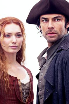 Demelza and Ross Poldark.
