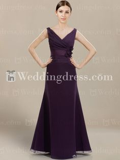 Buy purple chiffon bridesmaid dress at affordable prices. Also available in other 100 colors! Custom length is available.