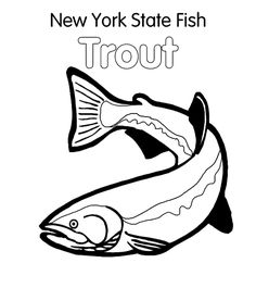free rainbow trout coloring pages - photo#22