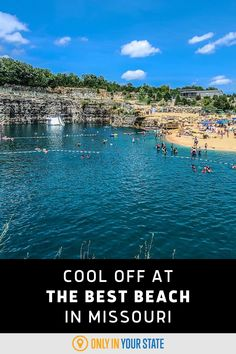 This unique Missouri beach is incredibly beautiful and home to the best waterpark in the state. Swim, float, or soak up the sun. It's perfect for family friendly summer fun. Summer Travel, Summer Fun, Fugitive Beach, Best Bucket List, Hidden Beach, Swimming Holes, Crystal Clear Water, Natural Wonders, Trip Planning