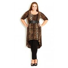 Make bold strides through the urban jungle when you slip into our Jungle Queen Hi Lo Tunic. Highlighted by an all over leopard print, this soft tunic features a scoop neckline, 3/4 sleeves, empire waist and a dip hemline. The stretch in the fabric provides a comfortable and flattering fit.