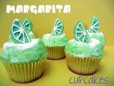 Margarita cupcakes!! Cute for Mexican themed party or cinco de mayo! @Joy Kenney