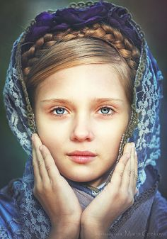 Girl/ by grekovamashulya on Russian Beauty, Russian Fashion, Russian Style, Portrait Shots, Portrait Photography, Beautiful Children, Beautiful People, Little Doll, People Of The World