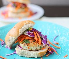 Spicy Chicken Burger With Slaw