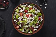 Need a make-ahead salad recipe for an upcoming party? This Mediterranean Bean Salad is worth a try. Prepare this bean salad ahead of time, then toss in the cheese before serving - how's that for effortless entertaining? Greek Salad Recipes, Salad Recipes Video, Salad Recipes For Dinner, Quinoa Salad Recipes, Healthy Recipes, Kraft Recipes, Traditional Greek Salad, Make Ahead Salads, Home Recipes
