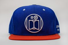 "Image of JONATHON THE DOG ""LOGO"" SNAPBACK ROYAL / SUNSET"