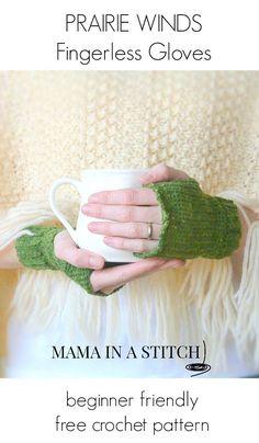 Free Crochet Pattern Fingerless Gloves Easy