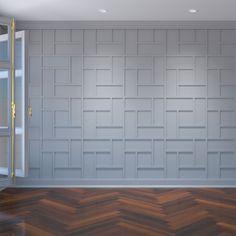 Vinyl Wall Panels, Decorative Wall Panels, Wood Panel Walls, Wood Wall Paneling, Pvc Wall Panels Designs, Basement Wall Panels, Paneled Walls, Wall Molding, Molding Ideas