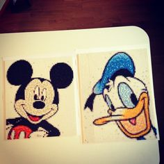 Perler bead Mickey and Donald Photo Pearls by samuelrams