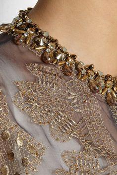Biyan | Raya embellished silk-organza evening coat | NET-A-PORTER.COM