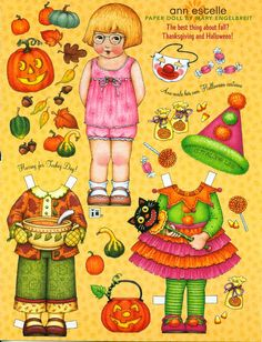Mary Engelbreit paper doll on etsy.