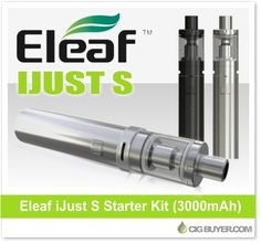 Eleaf iJust S Starter Kit – $22.49: http://www.cigbuyer.com/eleaf-ijust-s-starter-kit/ #ecigs #ecigarette #vaping #eleaf #eleafijust #ijustS #vapelife #vapedeals