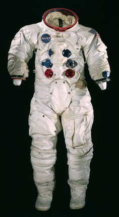 Spacesuit worn by astronaut Alan Bean during Apollo 12, which landed on the Moon on November 19, 1969.