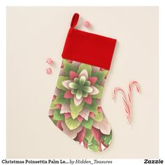 Christmas Poinsettia Palm Leaves Mandala Christmas Stocking Christmas Mandala, Christmas Poinsettia, Santa Claus Is Coming To Town, Holiday Cards, Holiday Decor, Christmas Templates, Christmas Stockings, Palm