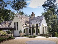 A charming French inspired house by Birmingham architects Shepard and Davis House Designs Exterior Architects Birmingham Charming Davis French house INSPIRED Shepard Modern Cottage, French Cottage, Cottage Style, Modern Farmhouse, French Farmhouse, Cottage Exterior Colors, Cottage Paint Colors, English Cottage Exterior, French Country Exterior