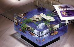 Coffee Table Aquarium http://stuffyoushouldhave.com/coffee-table-aquarium/
