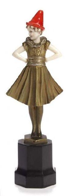 FERDINAND PREISS (1882-1943) PIERRETTE 19cm high