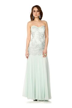 You cannot get more elegant than with the Badgley Mischka Byron gown. We love the soft green colour and delicate silver notes of the print. Hire for £120 here: http://www.wishwantwear.com/dress-hire/badgley-mischka/1340-byron-gown.html?utm_expid=38629437-8_referrer=http%3A%2F%2Fwww.wishwantwear.com%2Fcatalogue%2Fwhat-s-new%2F