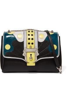 e27b859dfa02 PAULA CADEMARTORI Carine paneled leather shoulder bag.  paulacademartori   bags  shoulder bags