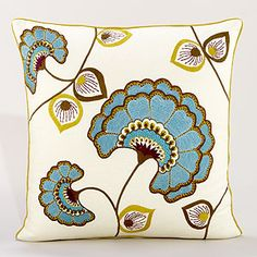 Flower Fan Fare Toss Pillow