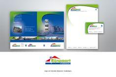 #ontwerp #logo en #huisstijl Rijnpoort Makelaars http://www.zuid44.nl/