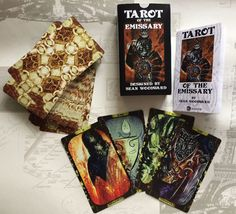 TAROT OF THE EMISSARY  http://www.seanwoodward.com/store-2-3/#!/Tarot-of-the-Emissary/p/39376722/category=5300062  $ 75.33.