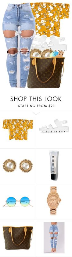 """"""" 7 figure self-made """" by mindlesspolyvore ❤ liked on Polyvore featuring JuJu, Chanel, Bobbi Brown Cosmetics, Illesteva, Michael Kors, Louis Vuitton and Vince Camuto"""