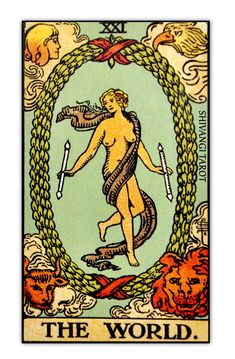 The Rider-Waite-Smith deck was published in 1910 and it remains until this day the essence of Tarot, yet unsurpassed. Perhaps because of its authors, and their reunion at the right time, leading to. Terra Cards, The World Tarot Card, Tarot Significado, Rider Waite Tarot Cards, Vintage Tarot Cards, Tarot Card Meanings, Tarot Readers, Oracle Cards, Tarot Decks