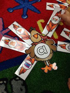 Kindergarten Smiles: Turkey Word Work Center